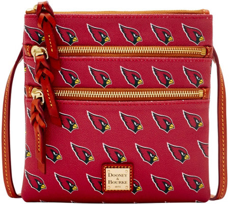Dooney & Bourke NFL Cardinals Triple Zip Crossbody