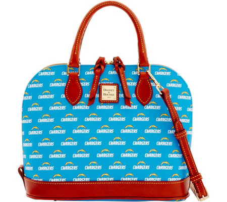 Dooney & Bourke NFL Chargers Zip Zip Satchel