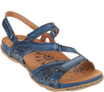 21d1086205e9 Earth Leather Multi-strap Sandals - Maui - A289845