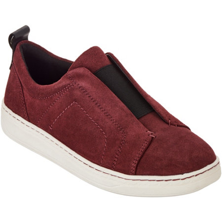 Earth Suede Slip-ons with Goring - Zetta