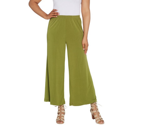 Joan Rivers Regular Pull-On Jersey Knit Palazzo Pants