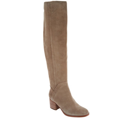 """As Is"" Marc Fisher Medium Calf Suede Over-the-Knee Boots-Elanie"