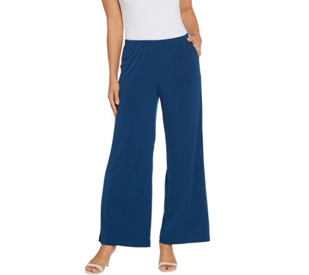 Joan Rivers Regular Length Pull On Palazzo Pants with Center Seam