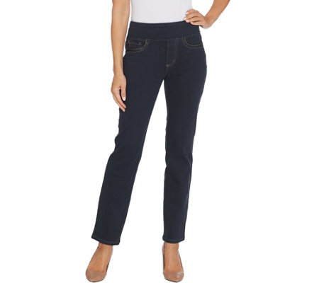 Belle by Kim Gravel Regular Flexibelle Straight Jeans
