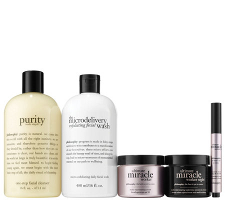 philosophy ultimate miracle worker 5-piece am/pm skincare kit