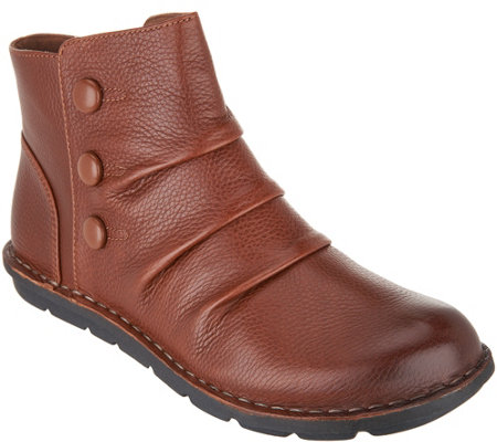 a4e30a0708bf Clarks Leather Side Button Ankle Boots - Janice Verna - Page 1 — QVC.com