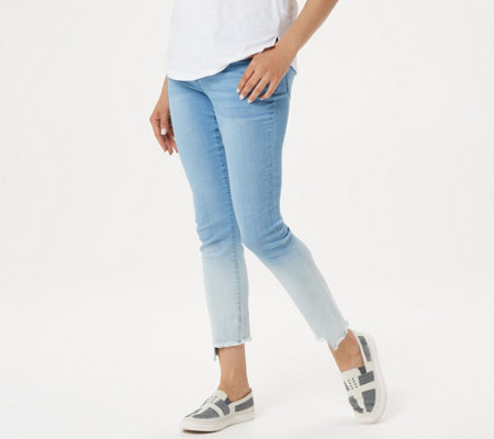 Women with Control My Wonder Denim Frayed Ombre Step Hem Jeans