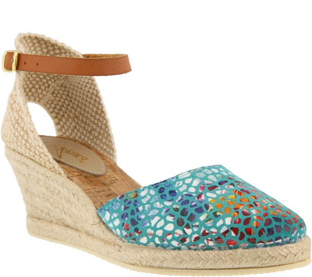 Azura by Spring Step Leather Espadrilles - Kaitlin