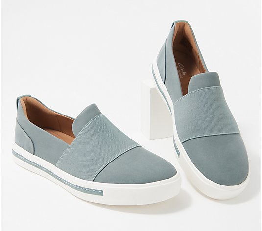 Clarks Unstructured Leather Slip-Ons - Un Maui Step