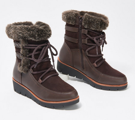 Earth Waterproof Lace-Up Mid Boot - Zurich Basel