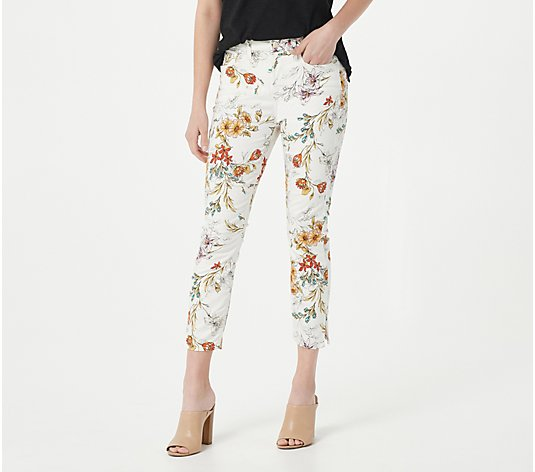 JEN7 by 7 For All Mankind Printed Crop Skinny Pants