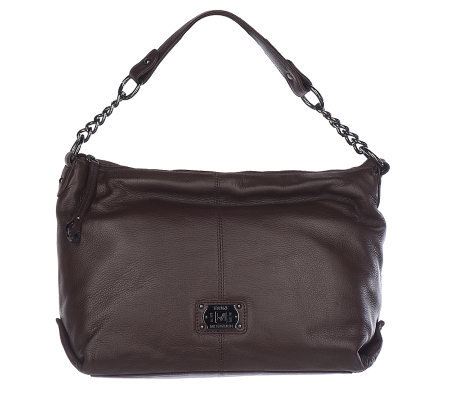 Stone Mountain Lafayette Leather Hobo Bag With Chain Detail
