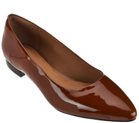 Clarks Artisan Leather Pointed Toe Flats - Corabeth Abbey