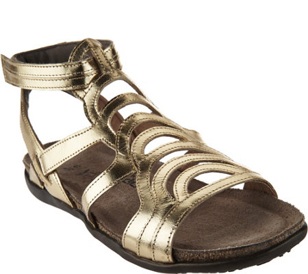 Naot Leather Gladiator Sandals - Sara