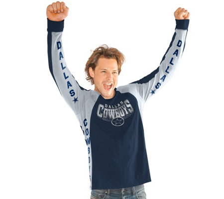 NFL Dallas Men's Hands High Long Sleeve Top by Jimmy Fallon