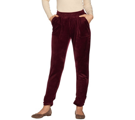 Laurie Felt Lush Velour Jogger Pants with Pockets