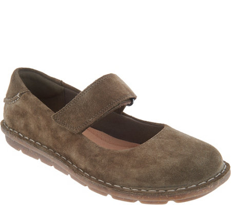 """As Is"" Clarks Suede Mary Janes- Tamitha Aster"