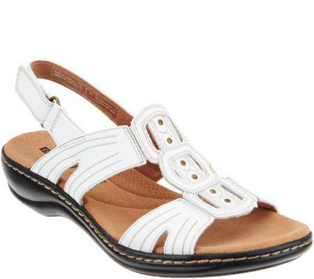 12f7ee4c30b Clarks Leather Lightweight Adjustable Sandals - Leisa Vine - Page 1 ...