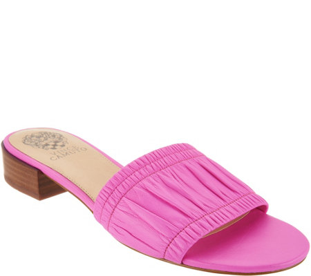 Vince Camuto Leather Single Band Slides - Nanita