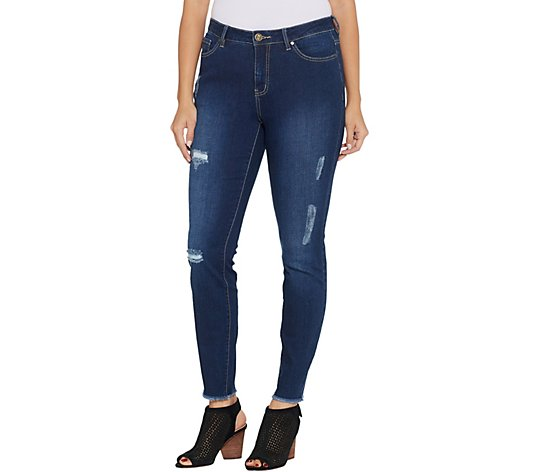 Belle by Kim Gravel Tripleluxe Distressed Skinny Jeans