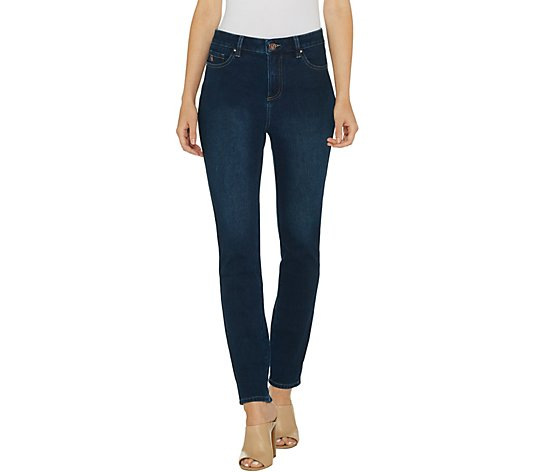 Belle by Kim Gravel Flexibelle 5-Pocket Skinny Jeans Regular