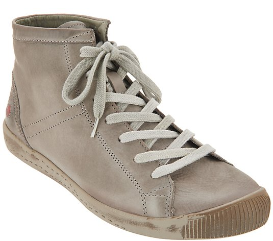 Softinos by FLY London Leather Lace-up Sneakers - Isleen