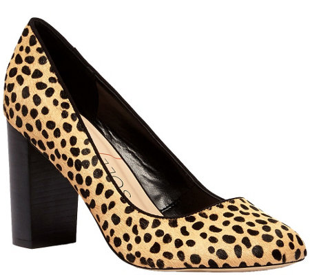 Sole Society Block Heel Pump - Giselle Leopard