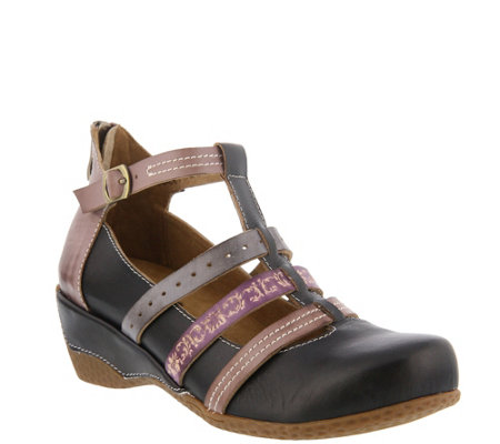 L'Artiste by Spring Step Leather Mary Janes - Yulianna