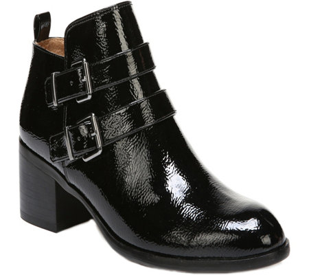 Franco Sarto Leather Booties - Raina Patent