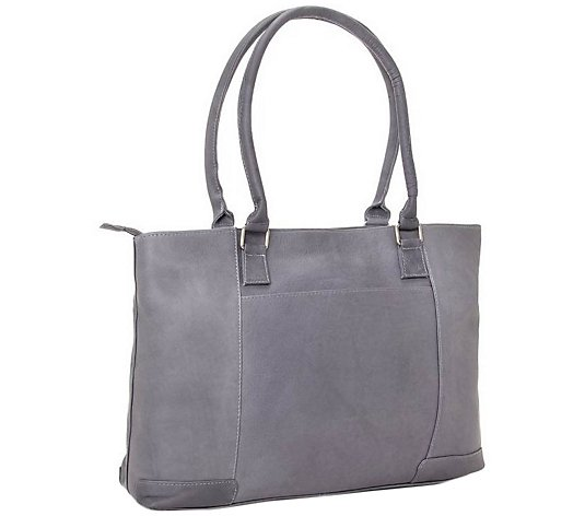 Le Donne Leather Classic Laptop Tote