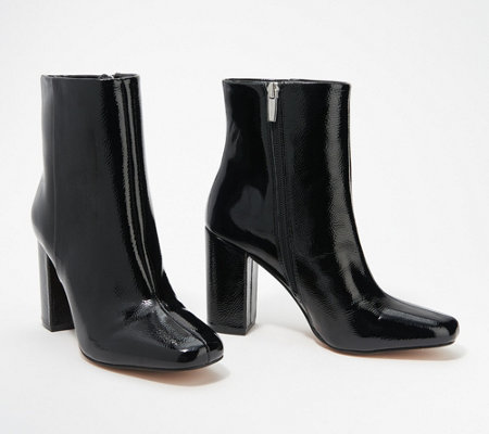 Vince Camuto Leather Heeled Ankle Boots - Dannia