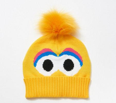 Isaac Mizrahi Live Loves Sesame Street Big Bird Beanie Qvc Com