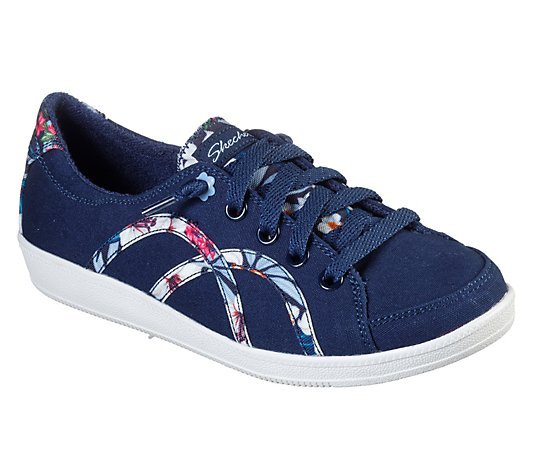 Skechers Floral Print Slip-On Shoes- Madison Ave