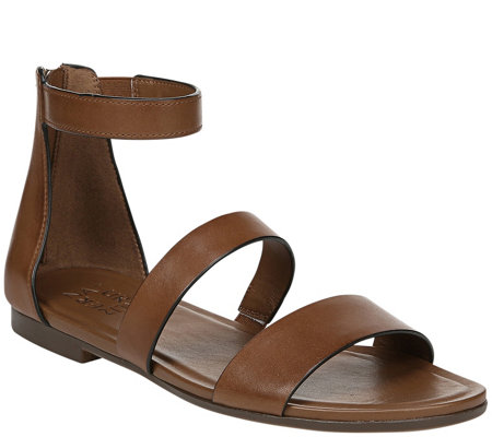 Naturalizer Ankle Strap Leather Sandals Tish