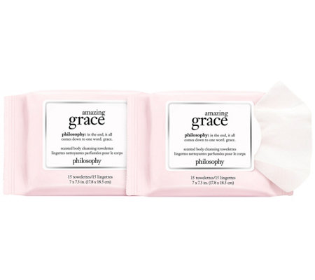 philosophy amazing grace cleansing towelettesduo