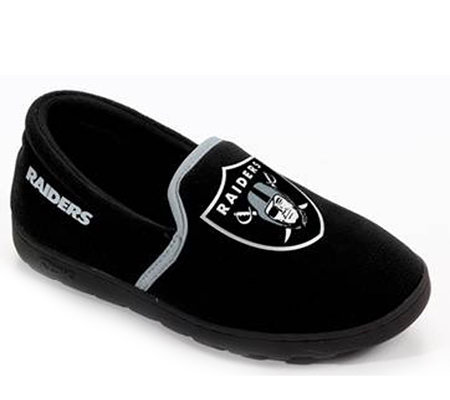afcbac76035 NFL Reebok Girl s Off Day Oakland Raiders Slippers — QVC.com
