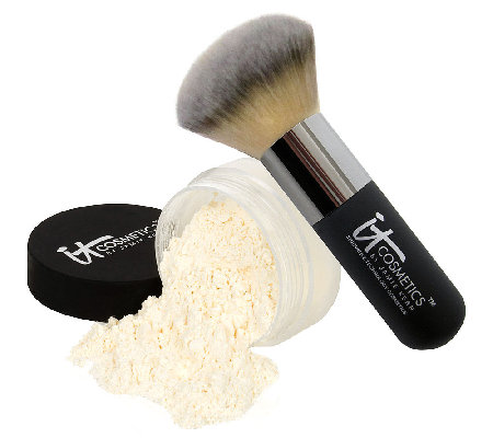 IT Cosmetics Bye Bye Pores HD Finishing Powder w/Hydro Collagen& Brush