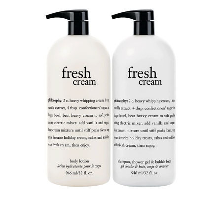 philosophy super-size cream favorites shower gel & body lotion