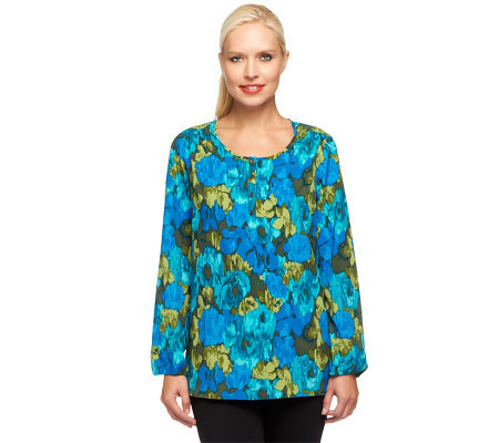 Liz Claiborne New York Long Sleeve Printed Blouse