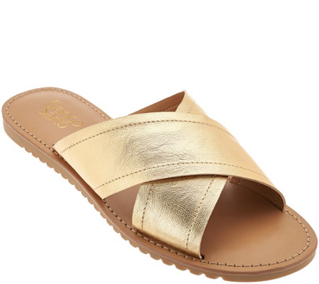 Franco Sarto Cross Strap Slide Sandals - Quentin