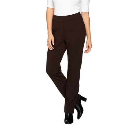 Linea by Louis Dell'Olio Petite Super Ponte Straight Leg Pant