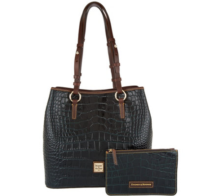 Dooney & Bourke Croco Leather Shoulder Bag