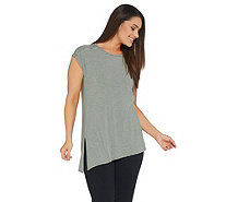 Cuddl Duds Softwear with Stretch Asymmetrical Hem Tee - A302347