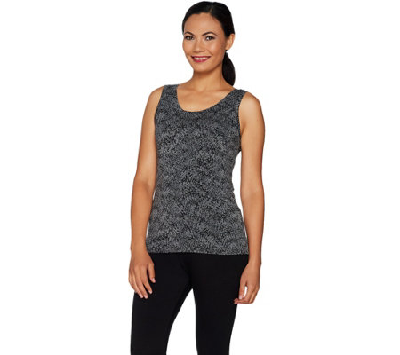"""As Is"" Cuddl Duds Softwear Stretch Reversible Scoop Crew Tank"