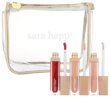Sara Happ 3 one Luxe Lip Slips with Bag