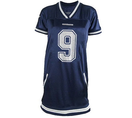 best loved 8692a 18bac NFL Dallas Cowboys Tony Romo Womens Naomi Jersey Dress — QVC.com