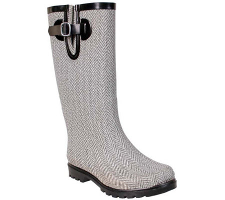 Nomad Puddles Rubber Rain Boots - Herringbone