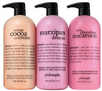 philosophy marzipan, cocoa & macaroon supersize shower gel trio - A341647