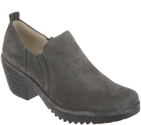 Fly London Suede Low Ankle Slip On Shoes Wate