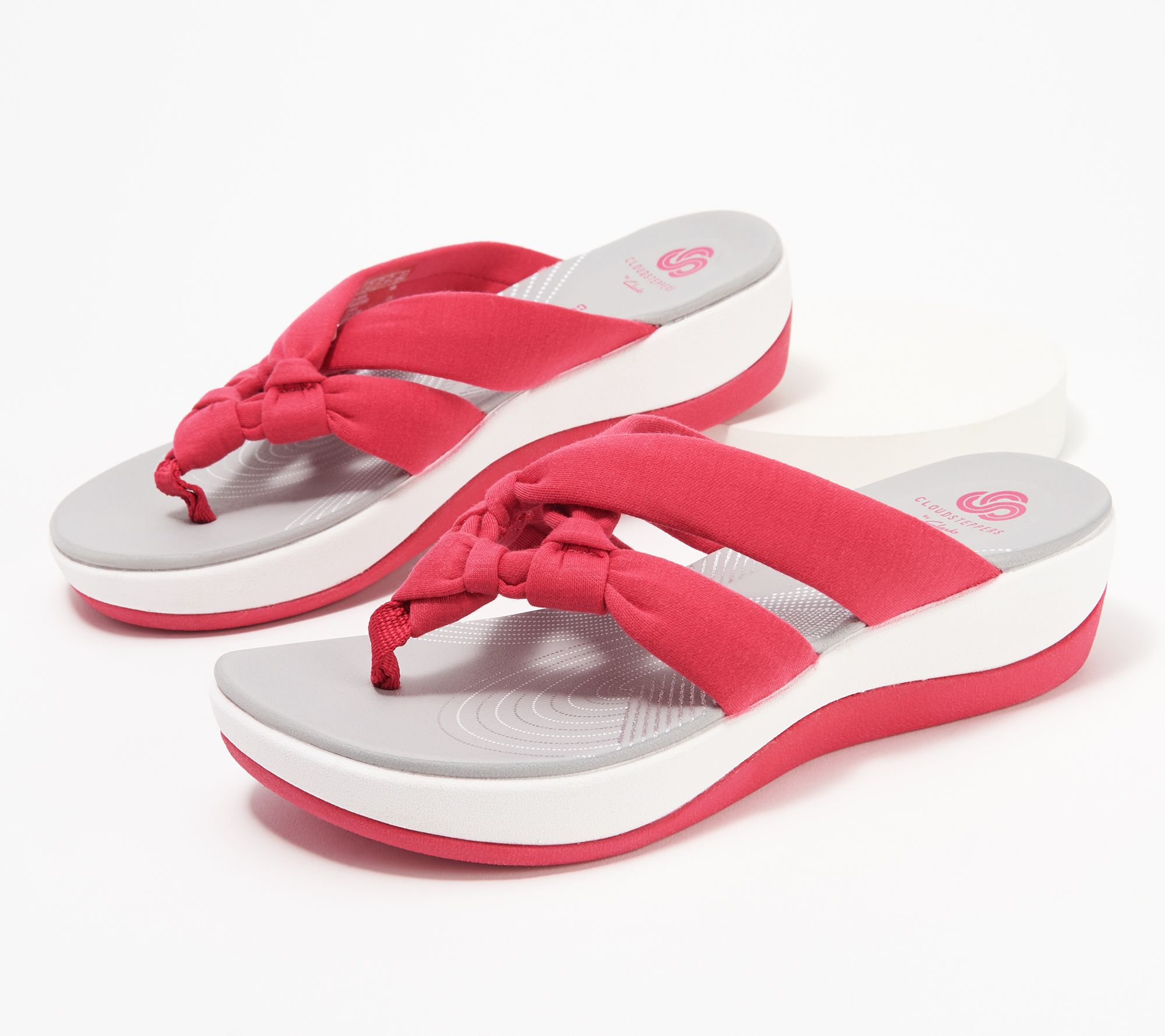 CLOUDSTEPPERS by Clarks Jersey Thong Sandals - Arla Jane - QVC.com